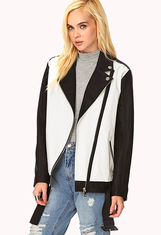 Forever 21 Borrowed-From-The-Boys Moto Jacket available  here