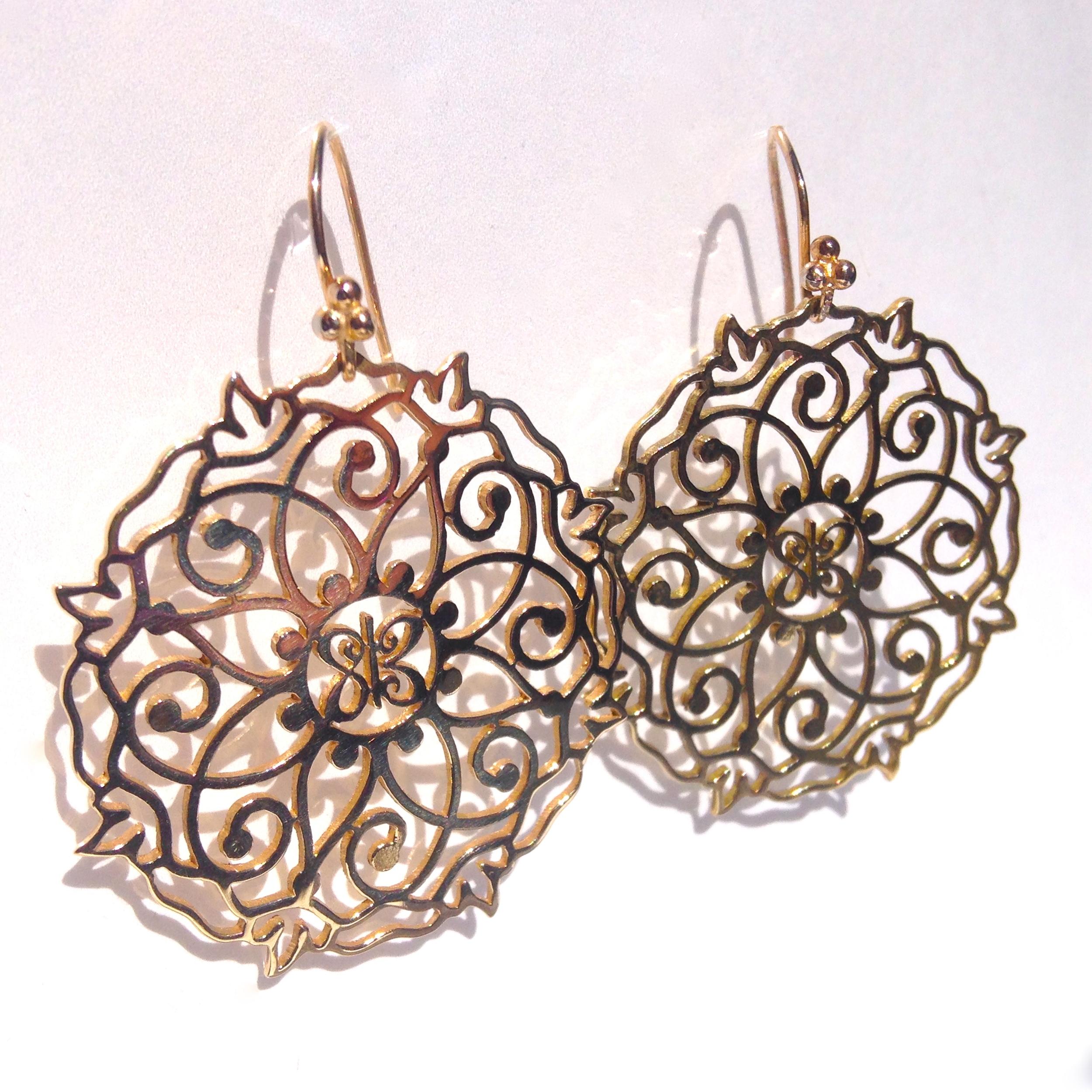 Mandala Earrings Gold- 2.JPG