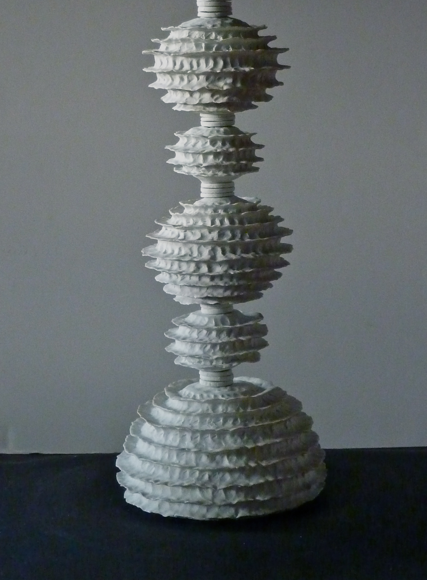 Raw Porcelain lamp, v.1