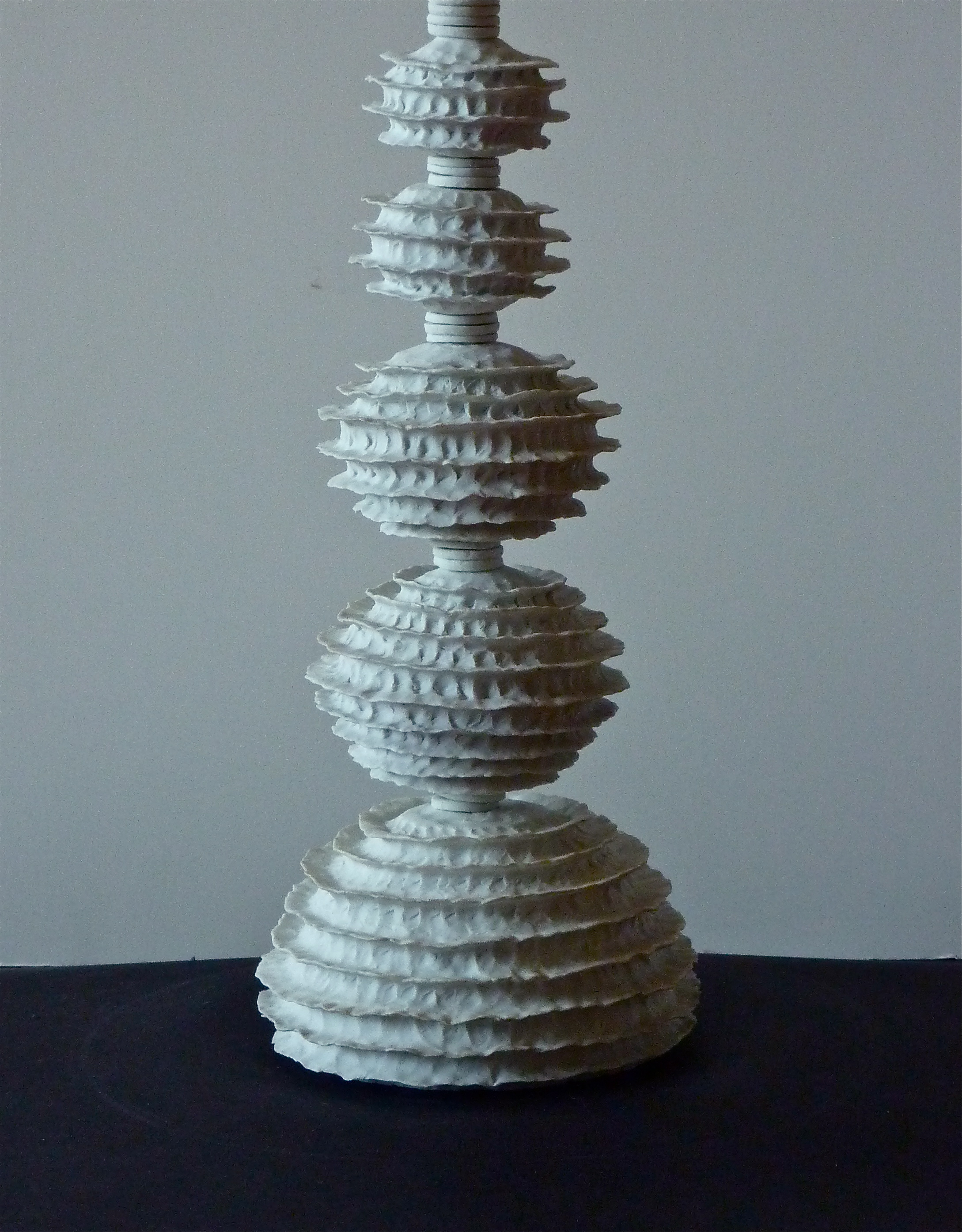 Raw Porcelain lamp, v.2