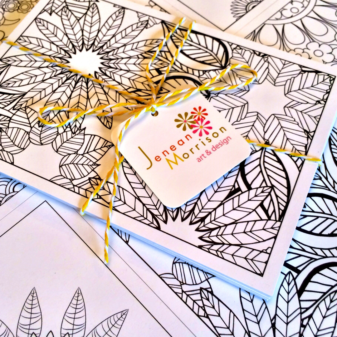 Coloring postcards available exclusively at Greatly.