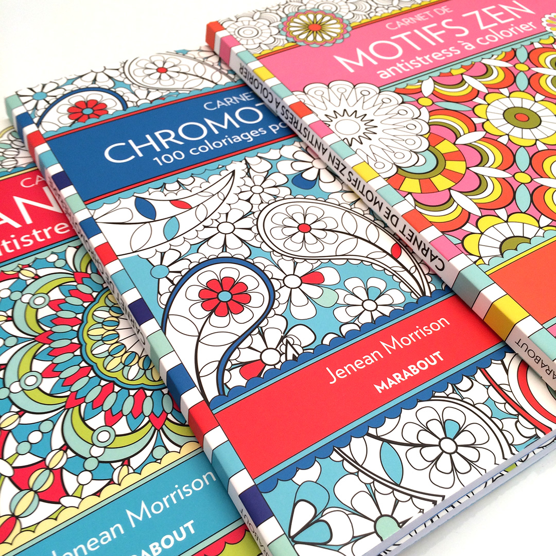 Coloring Books by Jenean Morrison for Editions Marabout