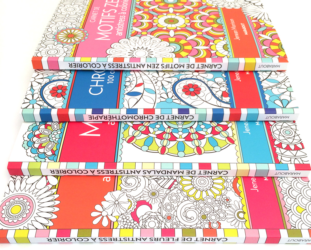 Jenean Morrison Coloring Books published in France by Editions Marabout.
