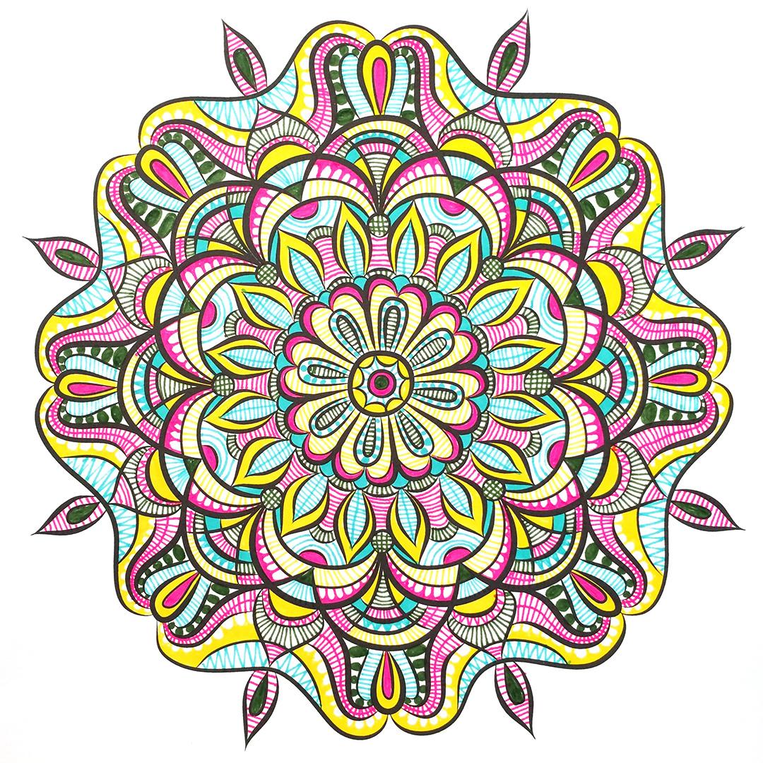 Jenean Morrison's Hand-Drawn Mandalas Coloring Book