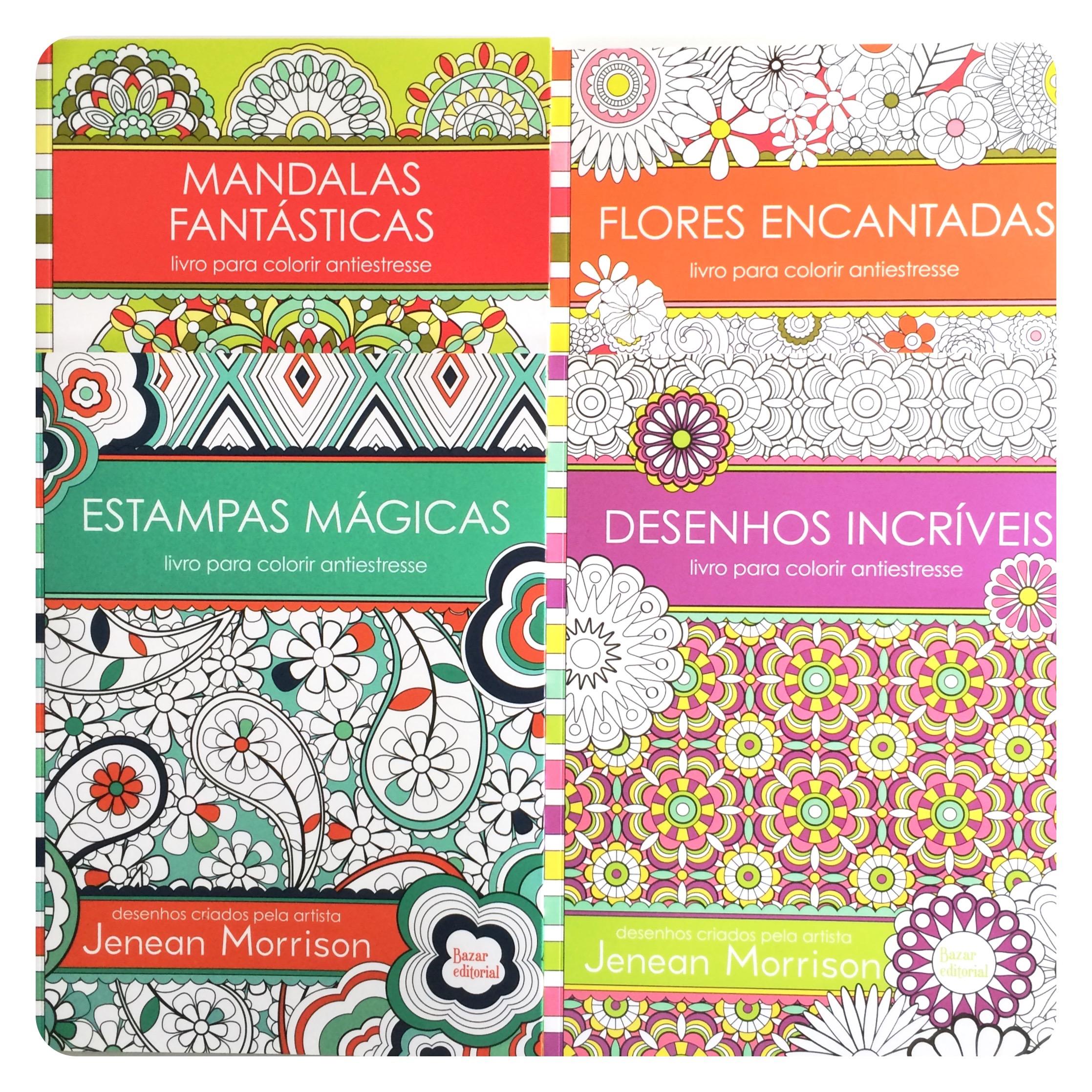 Jenean Morrison Coloring Books by Edipro, Brazil