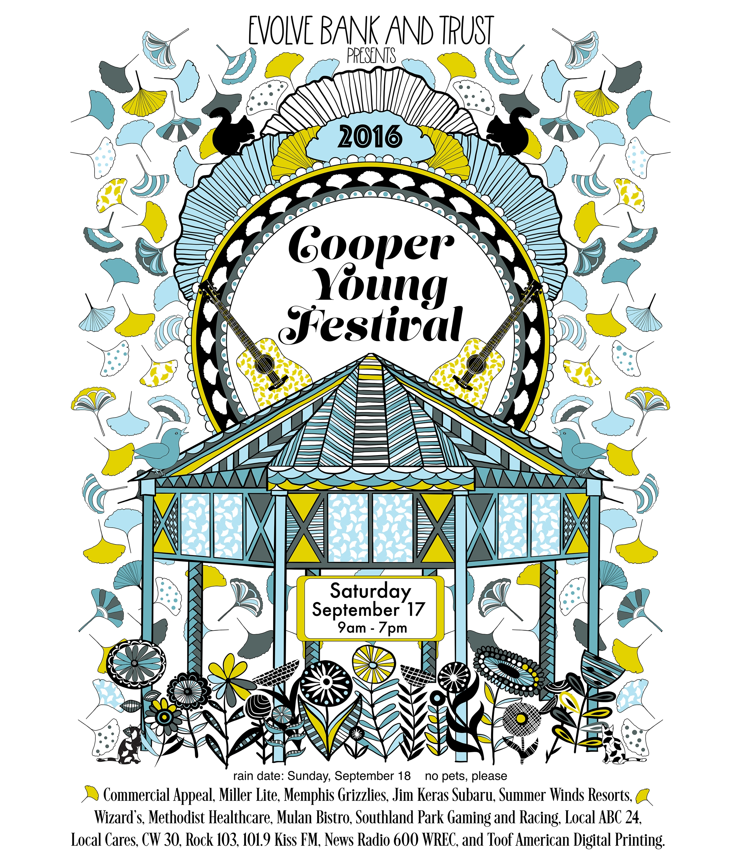 Cooper Young Festival 2016 Poster by Jenean Morrison