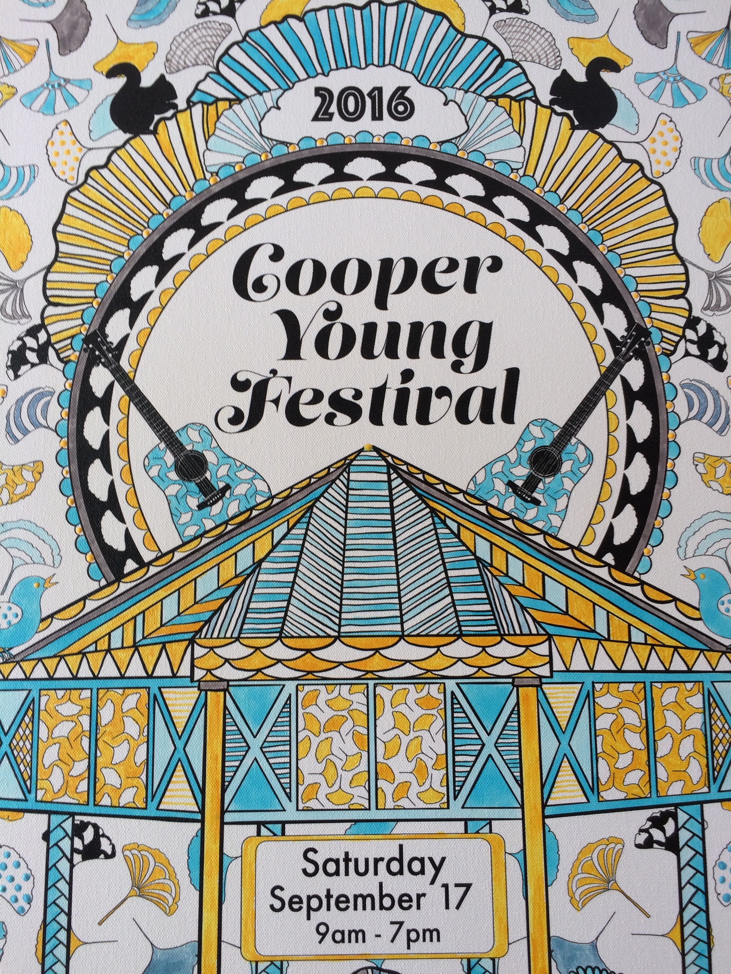 Cooper Young Festival Poster 2016 by Jenean Morrison