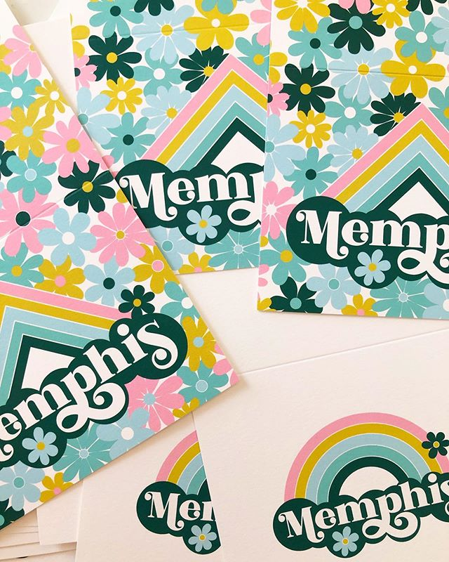 Some new notecards I designed for @cooperyounggallery! #memphis #memphisartist #memphisart #stationery #cooperyounggallery #cooperyounggiftshop
