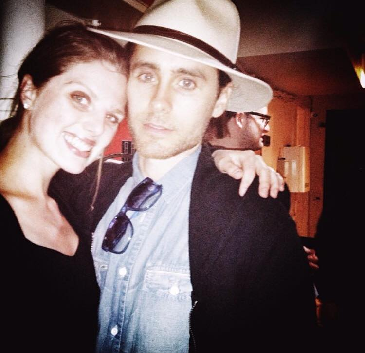 Post-performing with Jared Leto at the Wilbur Theater in Boston.
