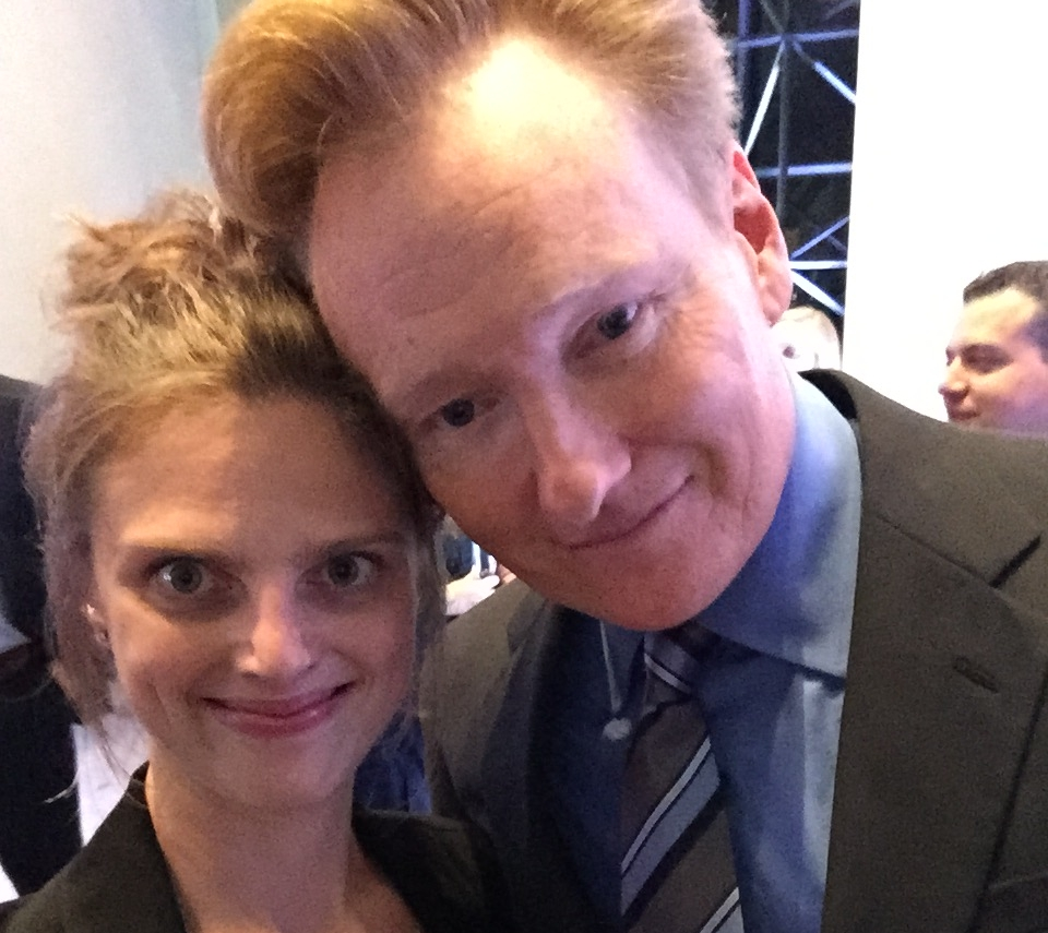 """After performing as the featured guest artist with my string quartet for """"An Evening with Conan O'Brien"""" at the JFK Library."""