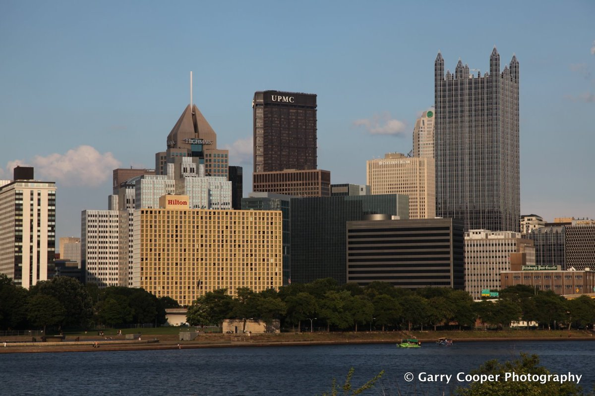 Sunset on downtown Pittsburgh