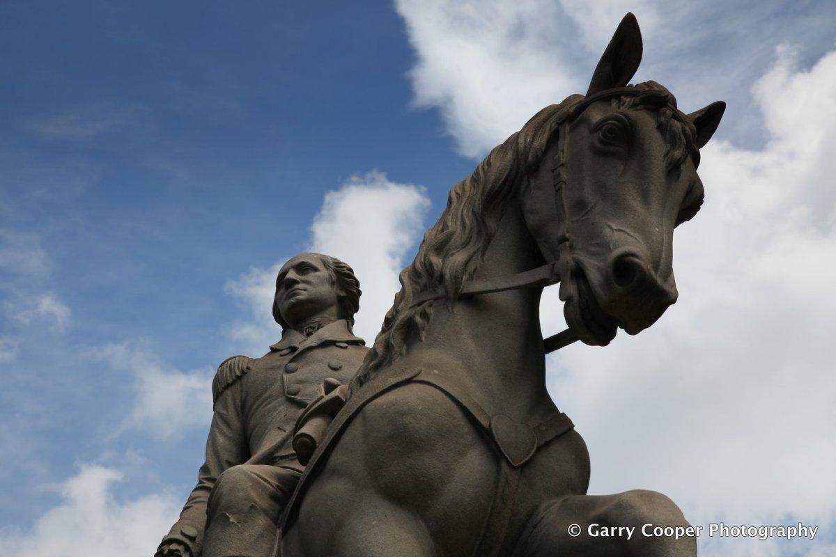 Washington statue, West Park