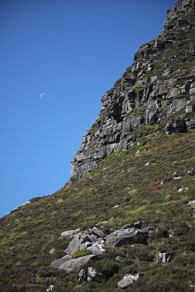 Moonrise over Stac Polladh