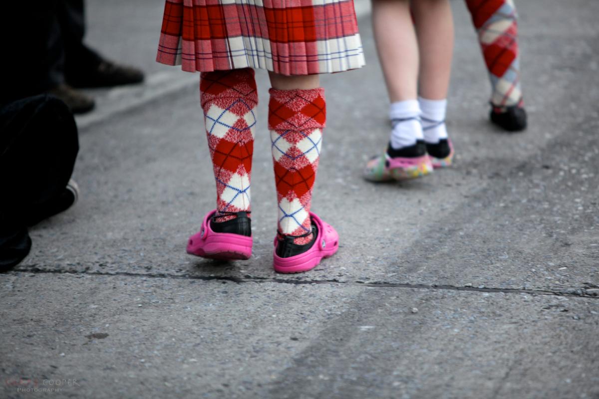 Crocs over dancing shoes, Ullapool