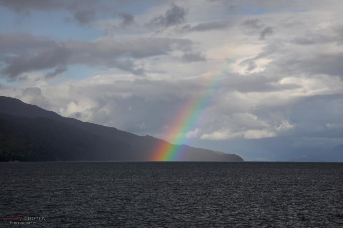 Rainbow leaving Mull