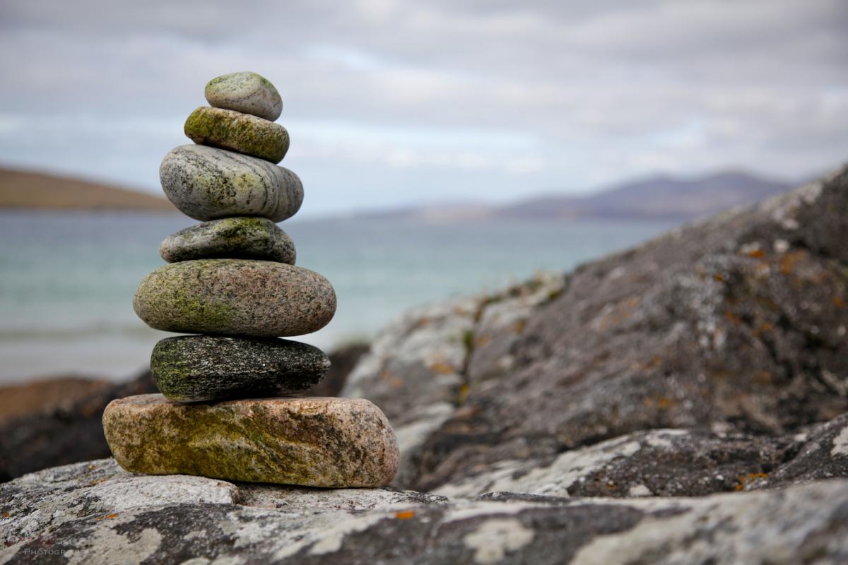 Stacked pebbles, Luskentyre beach