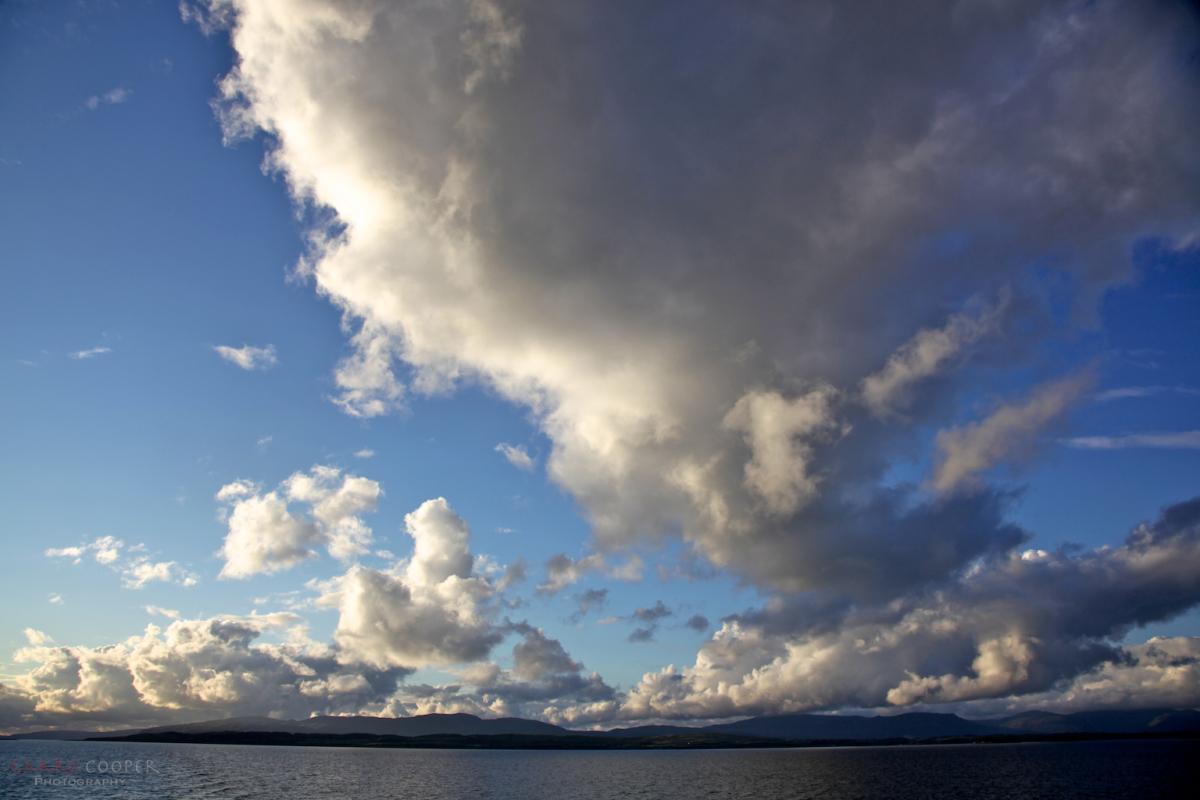 Skies clearing leaving Mull