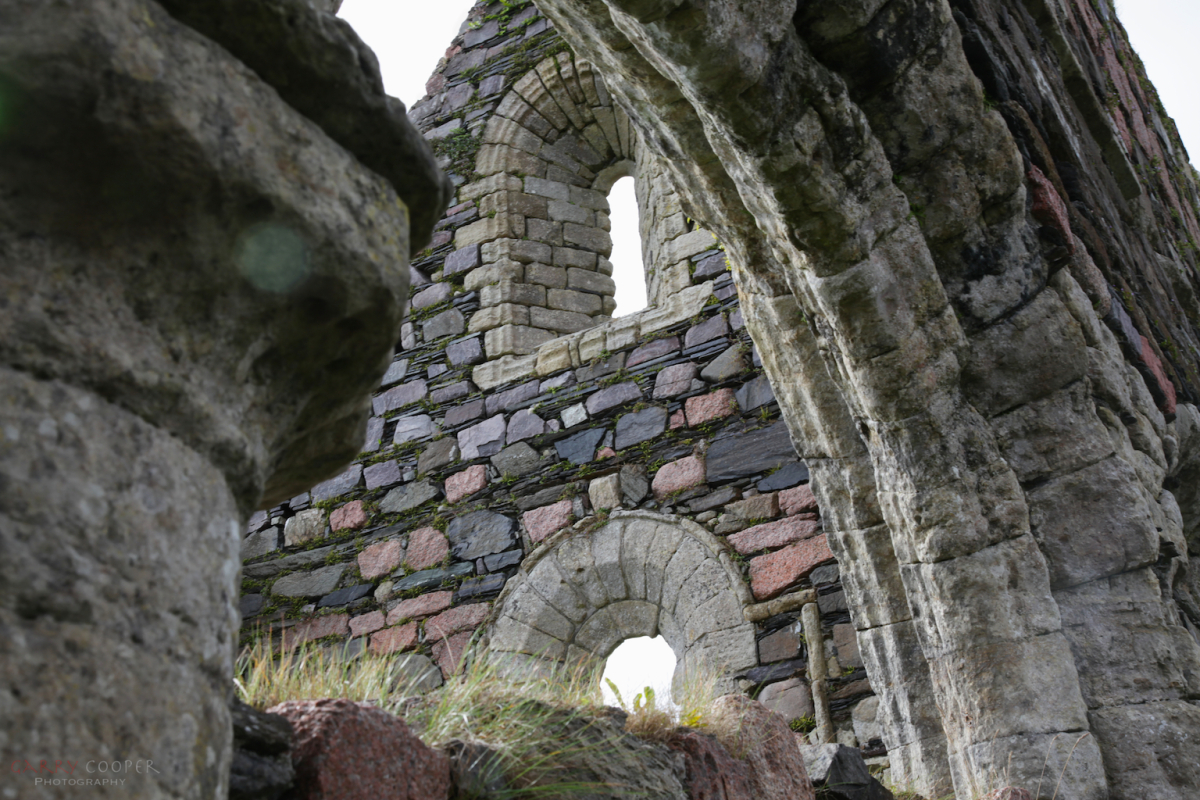 Church walls and arches, Iona