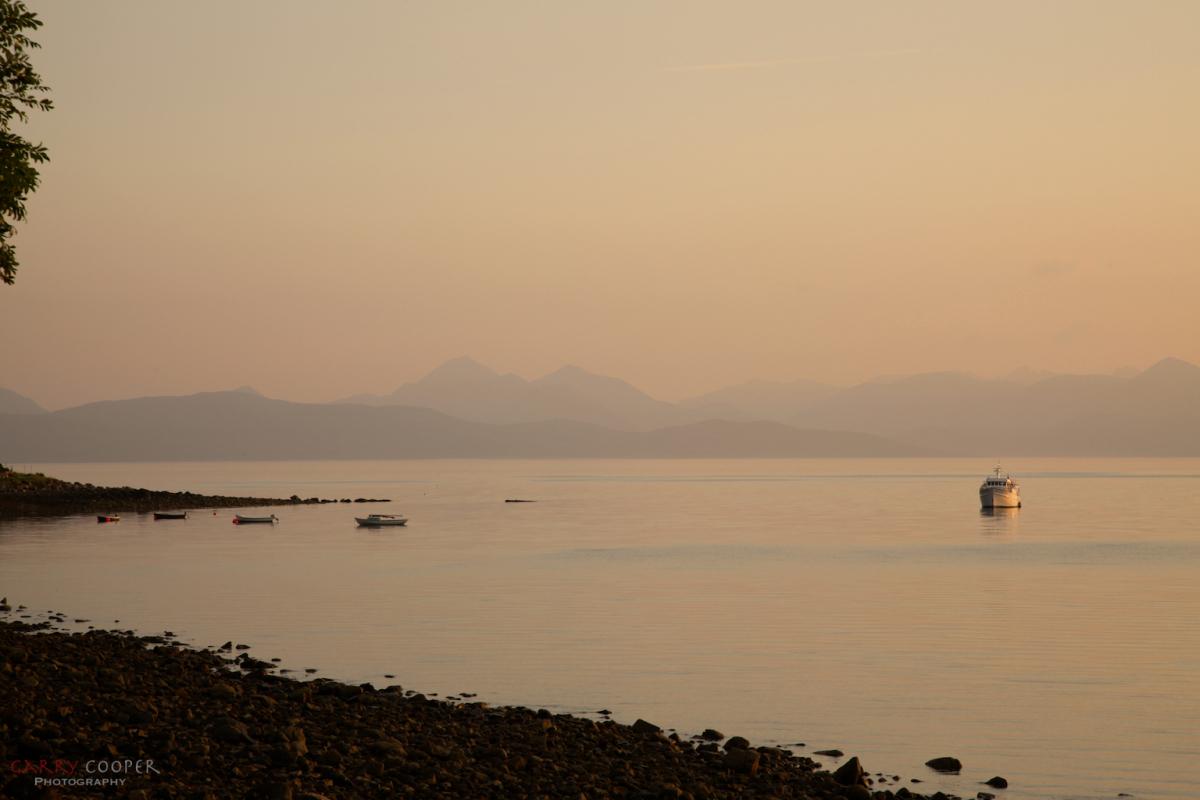 Sunset, Applecross looking towards Raasay