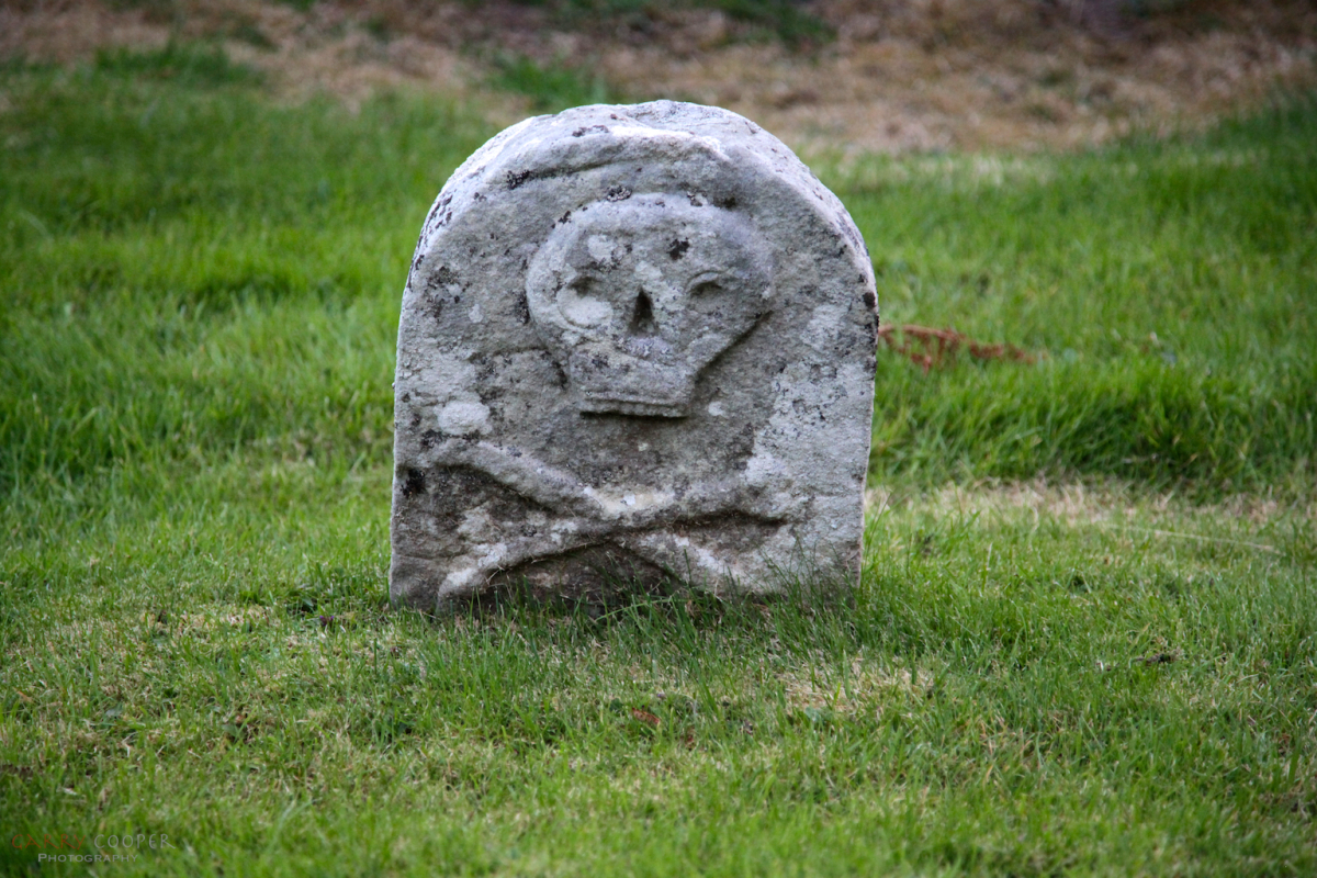 Headstone detail, Parish church at Applecross