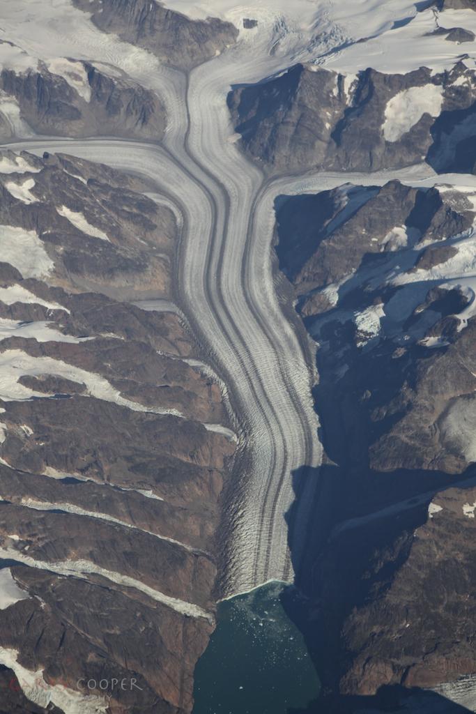 Glacier flow, Greenland
