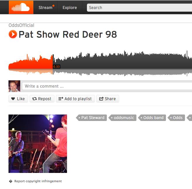 Link:https://soundcloud.com/oddsofficial/pat-show-red-deer-98