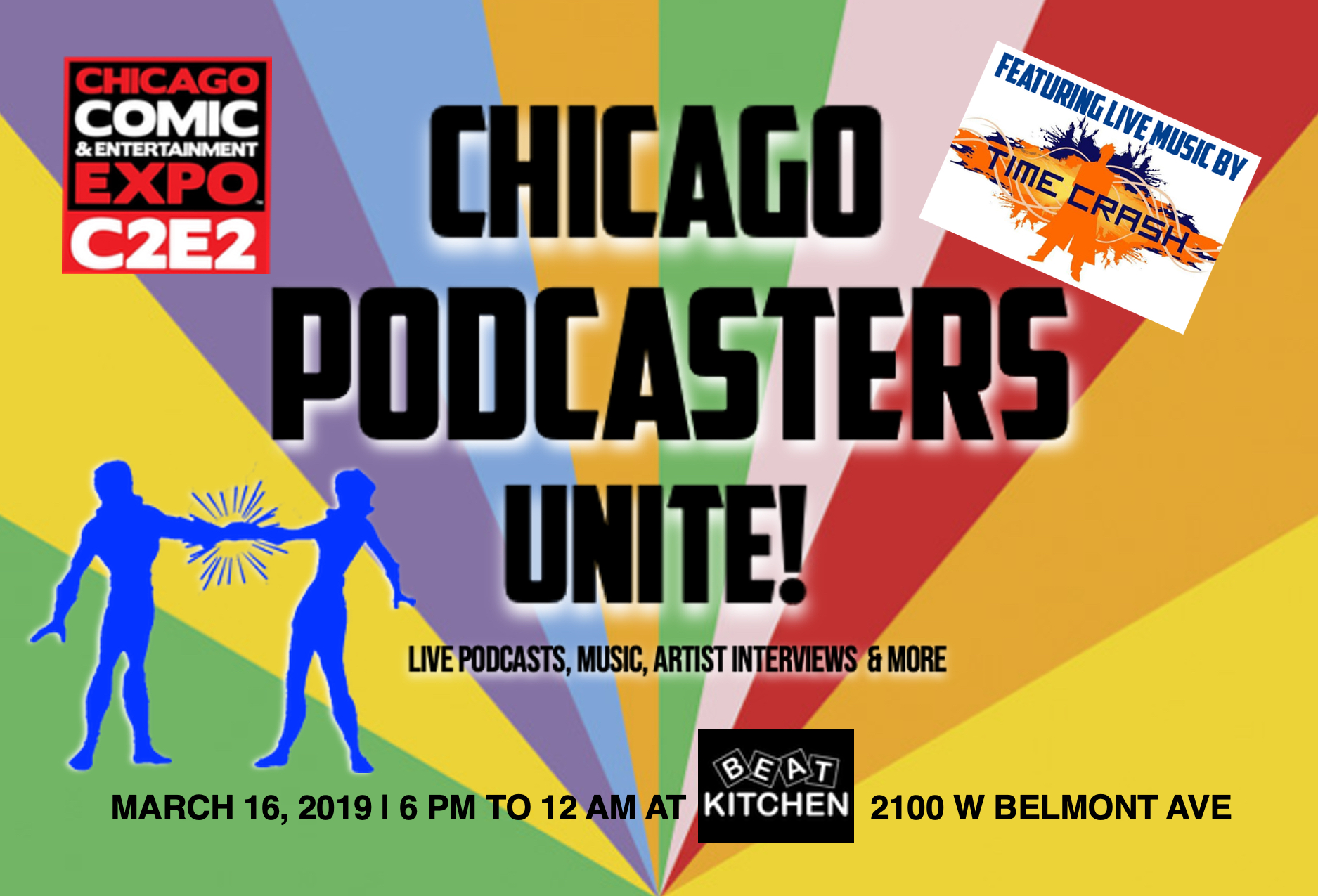 c2e2 Chicago Podcasters Unite POSTCARD A 4X6.jpg