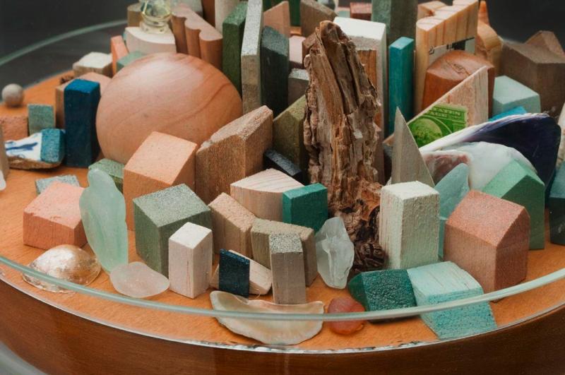 """Mixed Media Construction Diptych, 7""""x7""""x14,"""" Inspired by Blaise Cendrar's Poem La Prose du Transsiberien et de la petite Jehanne de France  Image courtesy of  Glen Scheffer Photography"""