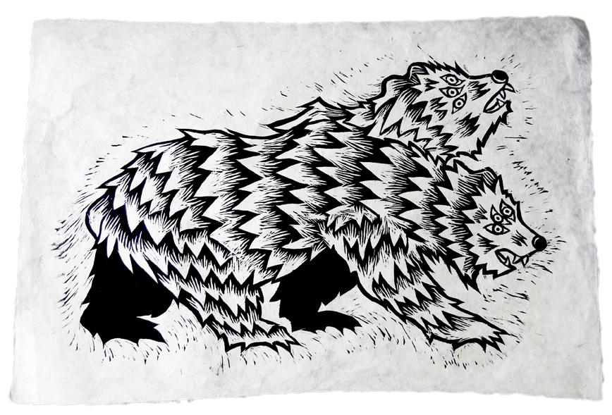 Jake Cassevoy  Untitled #1  Woodblock print