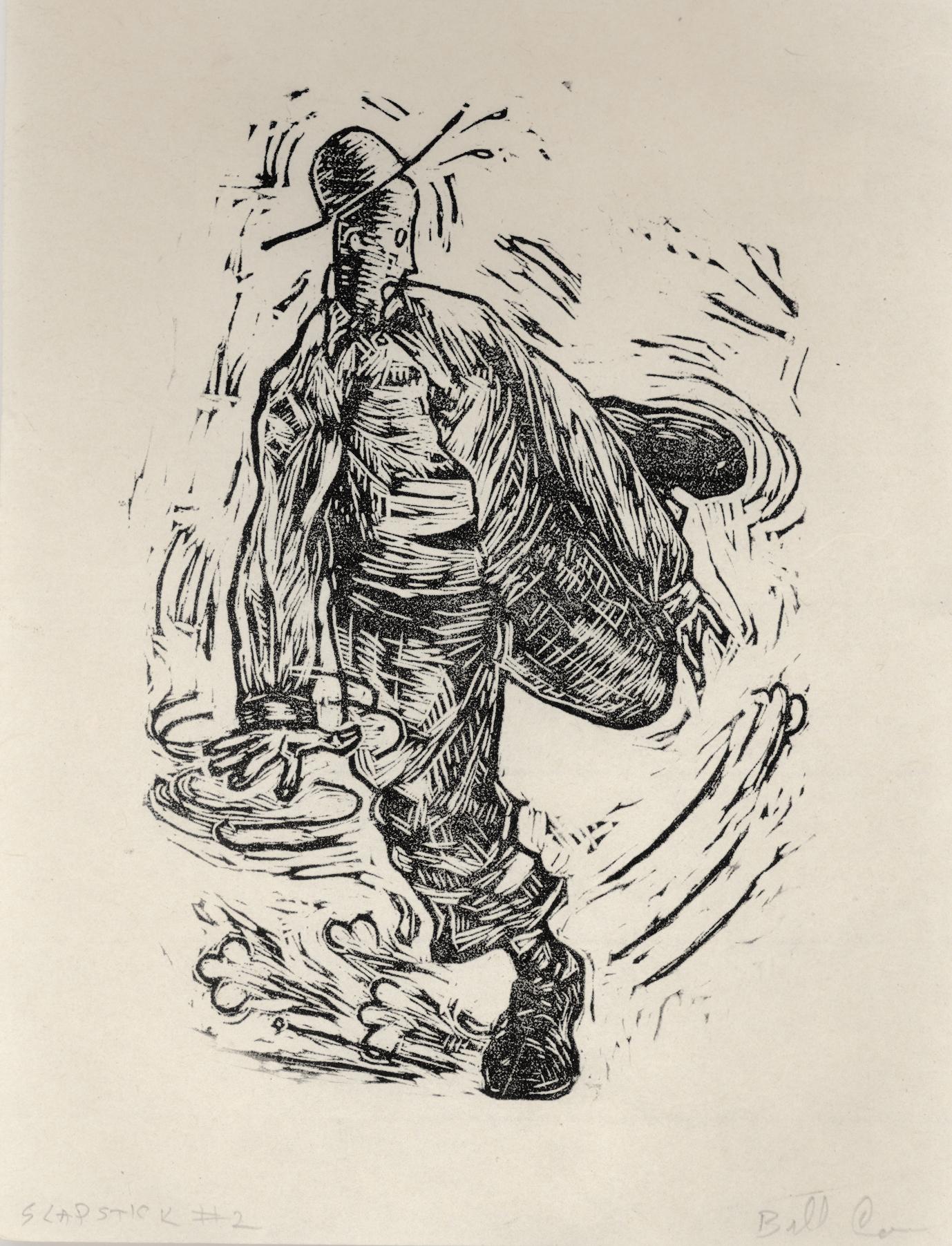 Bill Cass  Slapstick Series #2  Woodblock prints