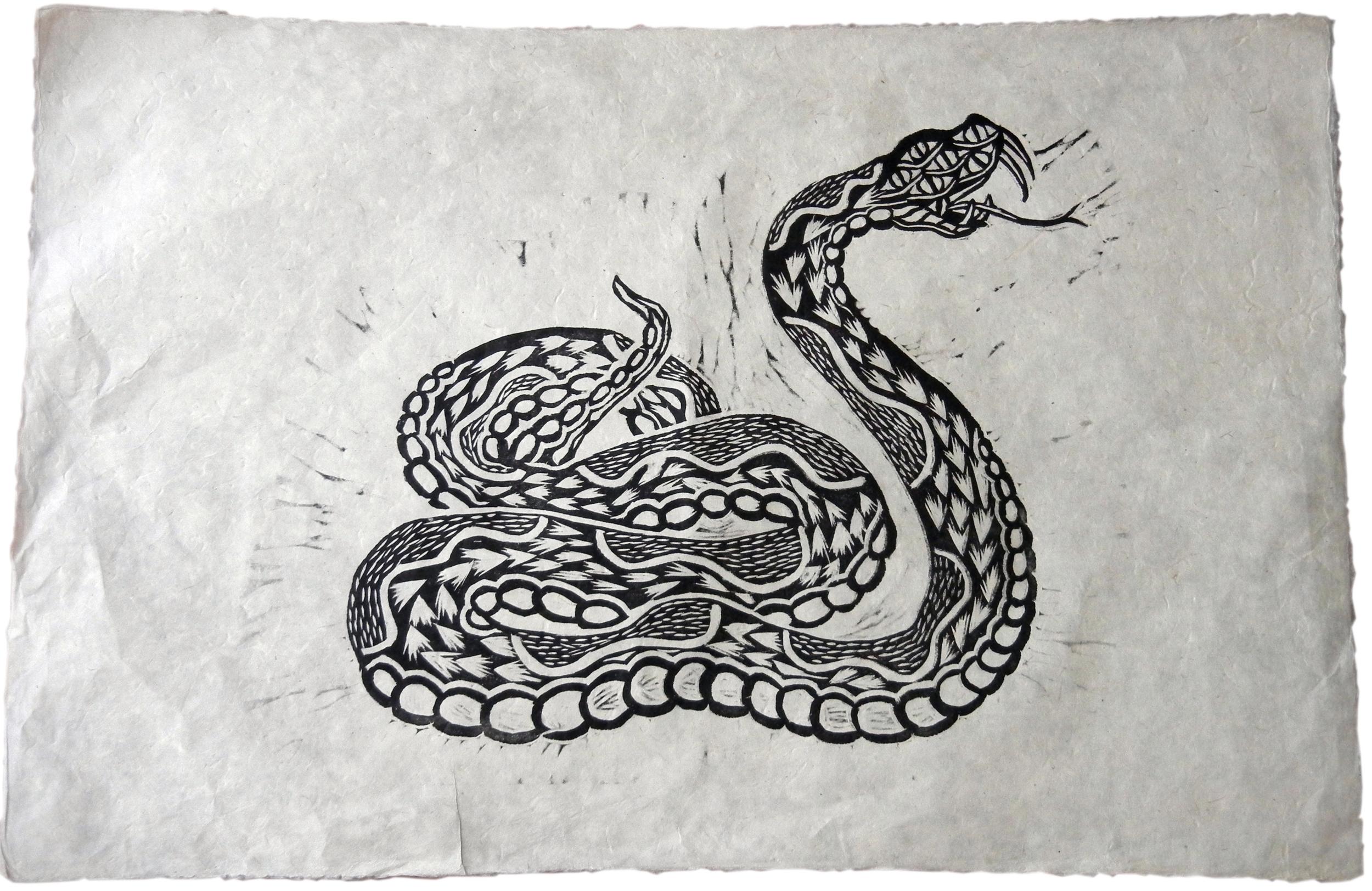 Jake Cassevoy Untitled #1 Woodblock print $100.