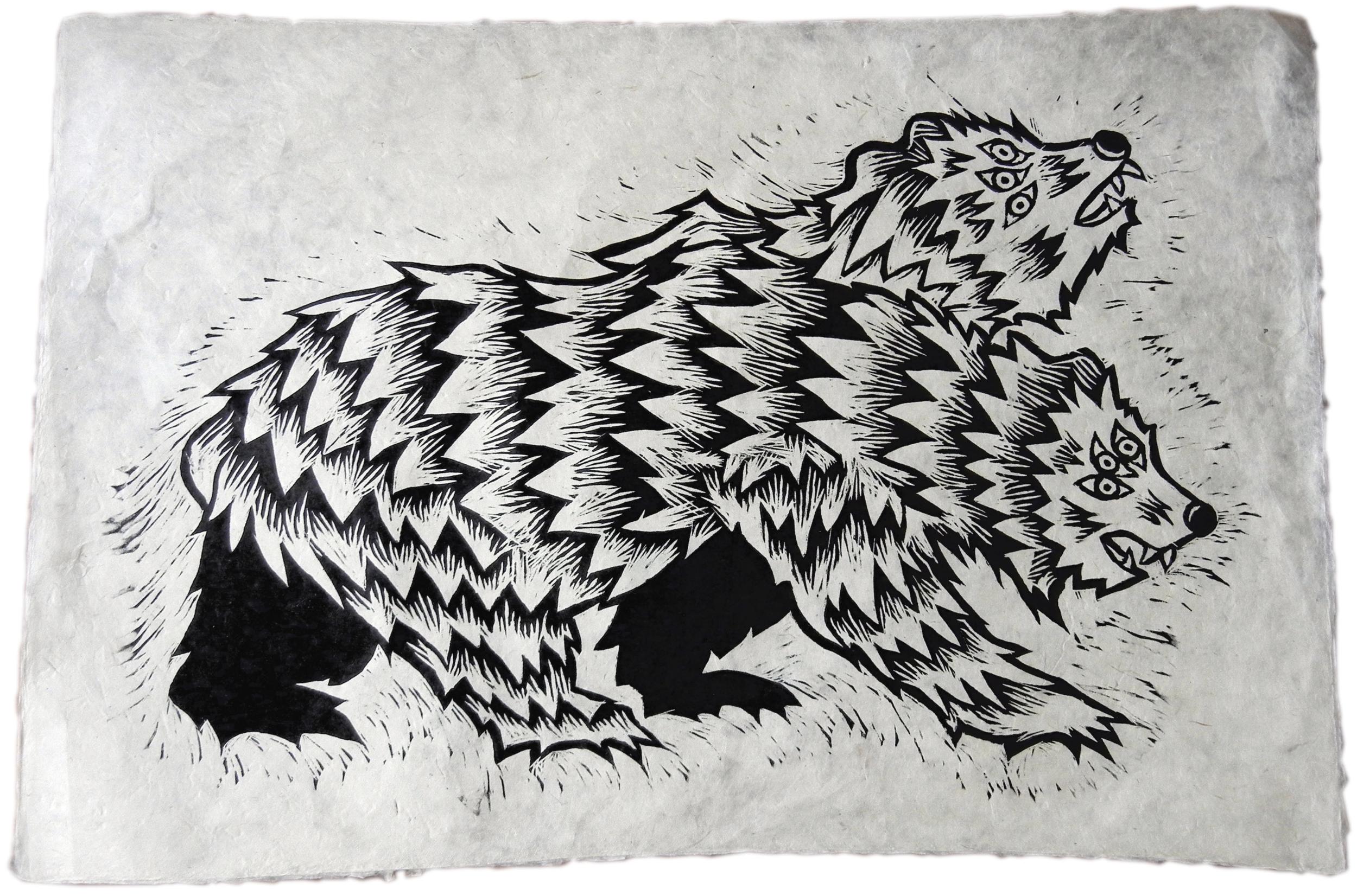 Jake Cassevoy Untitled #2 Woodblock Print $100.