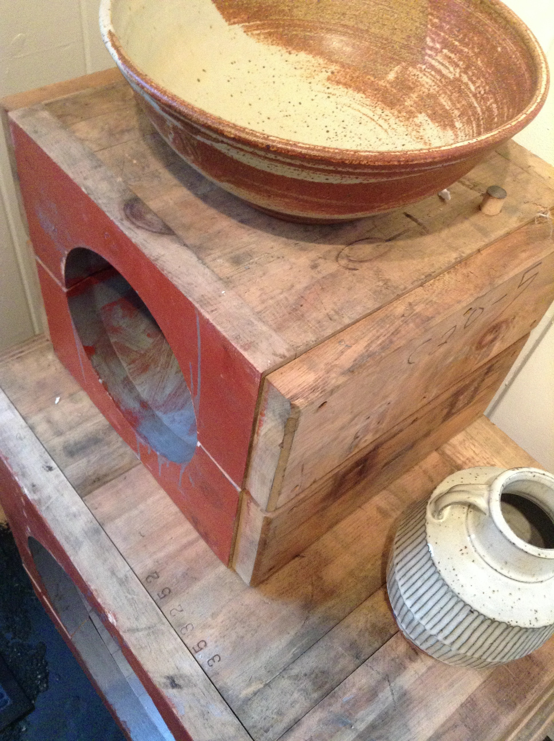 Antique Foundry Mold Boxes & Ceramic work by  M. Sweeney