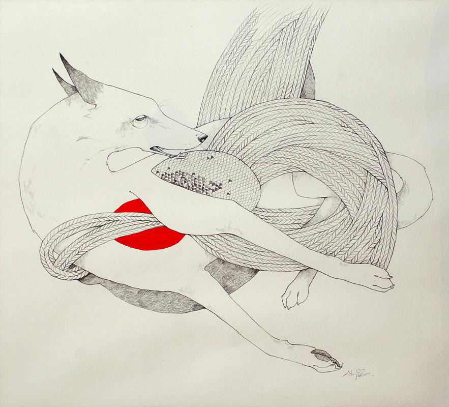 Snare  Alyssa Grenning  Graphite & Ink