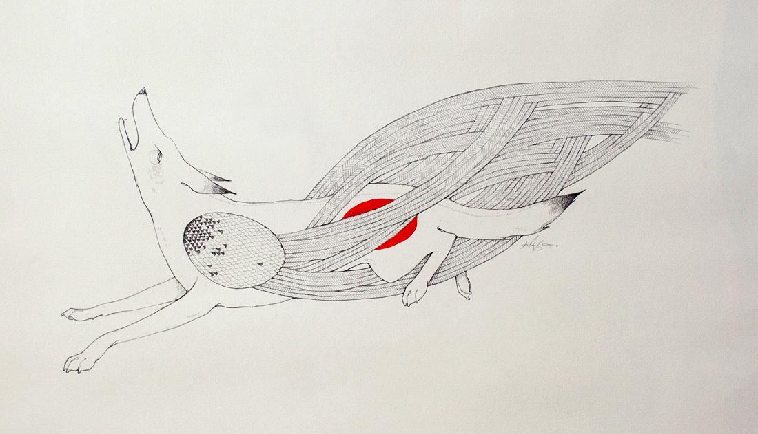 Flight  Alyssa Grenning   Graphite & Ink