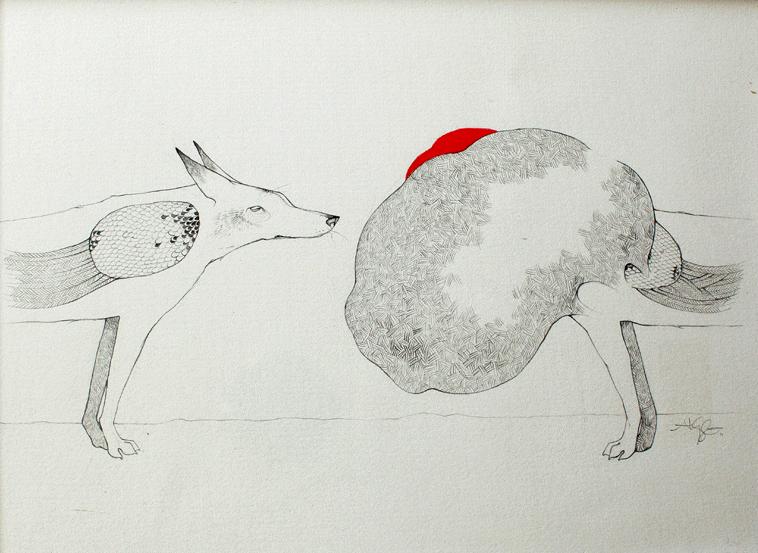 Captive  Alyssa Grenning  Graphite & Ink