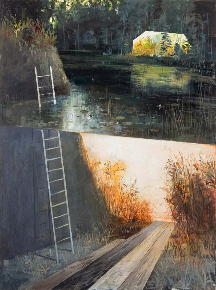"Ladder Acrylic on Panel 18"" x 24"""
