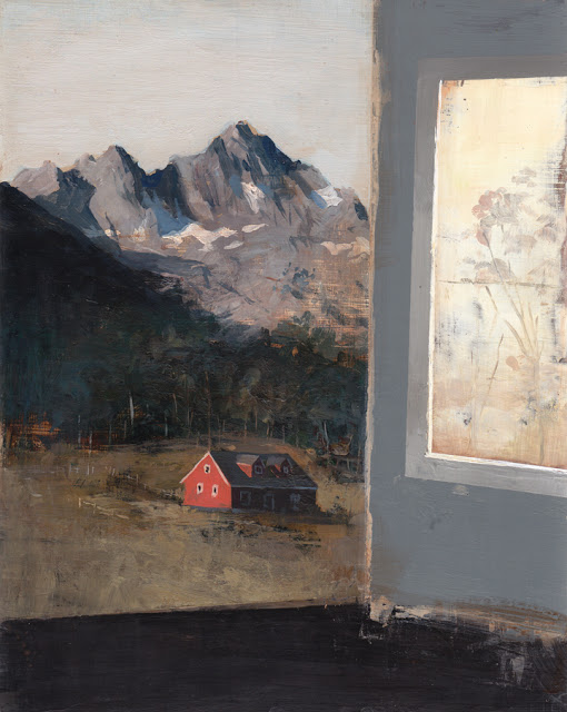 "Valley Acrylic on Panel 8"" x 10"""