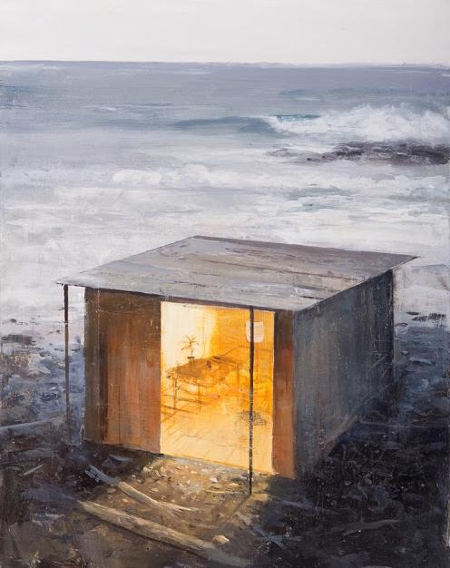 "Early Evening Acrylic on Panel 14"" x 18"""