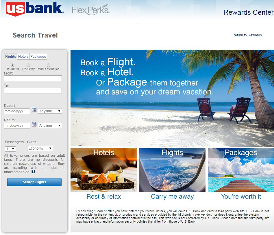 US Bank Flight Search
