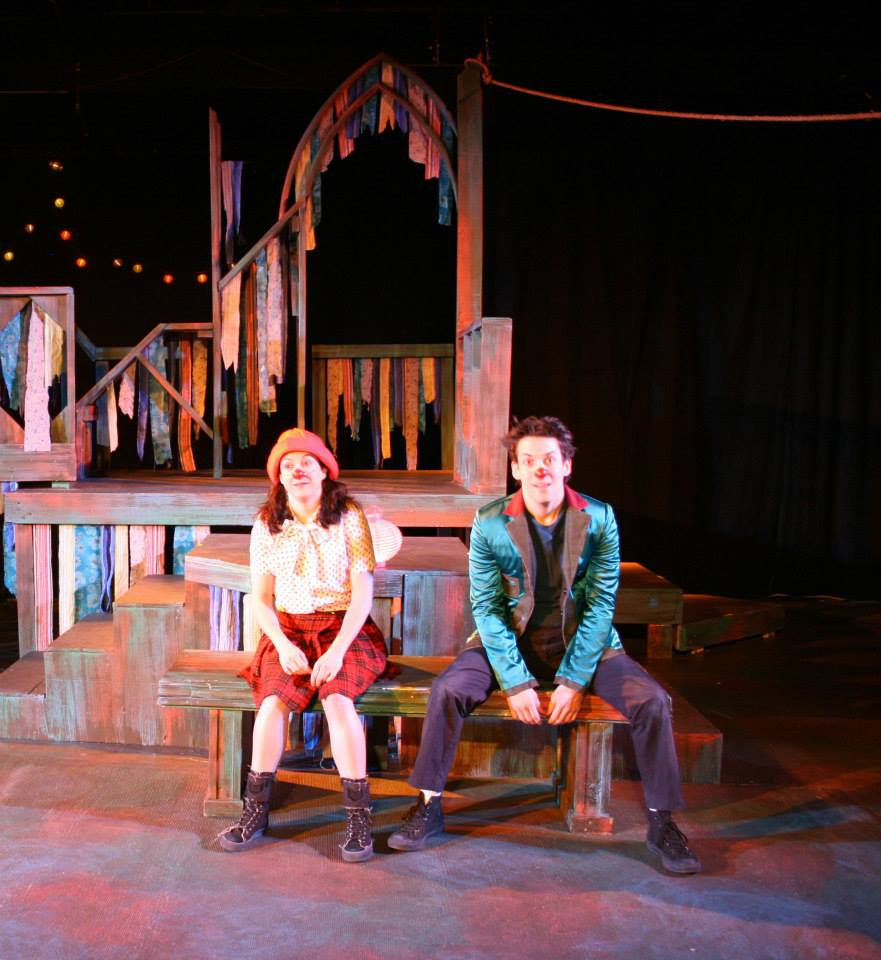 With Heather Stuart as Juliet. Photo by David Zarko.