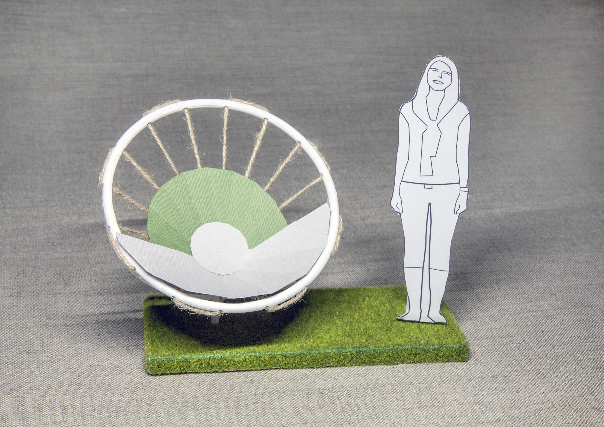 flower chair 3d printed model