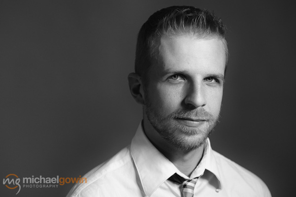 Nolan, business/model headshot :: Michael Gowin Photography, Lincoln, Illinois