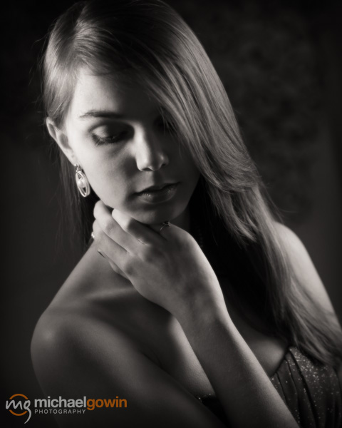 Nicole, vintage Hollywood portrait :: Michael Gowin Photography, Lincoln, IL