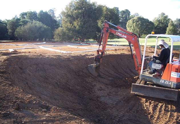 Chipping Green construction, Royal Canberra