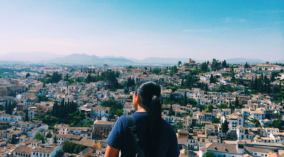Overlooking Granada, Spain from the Alhambra