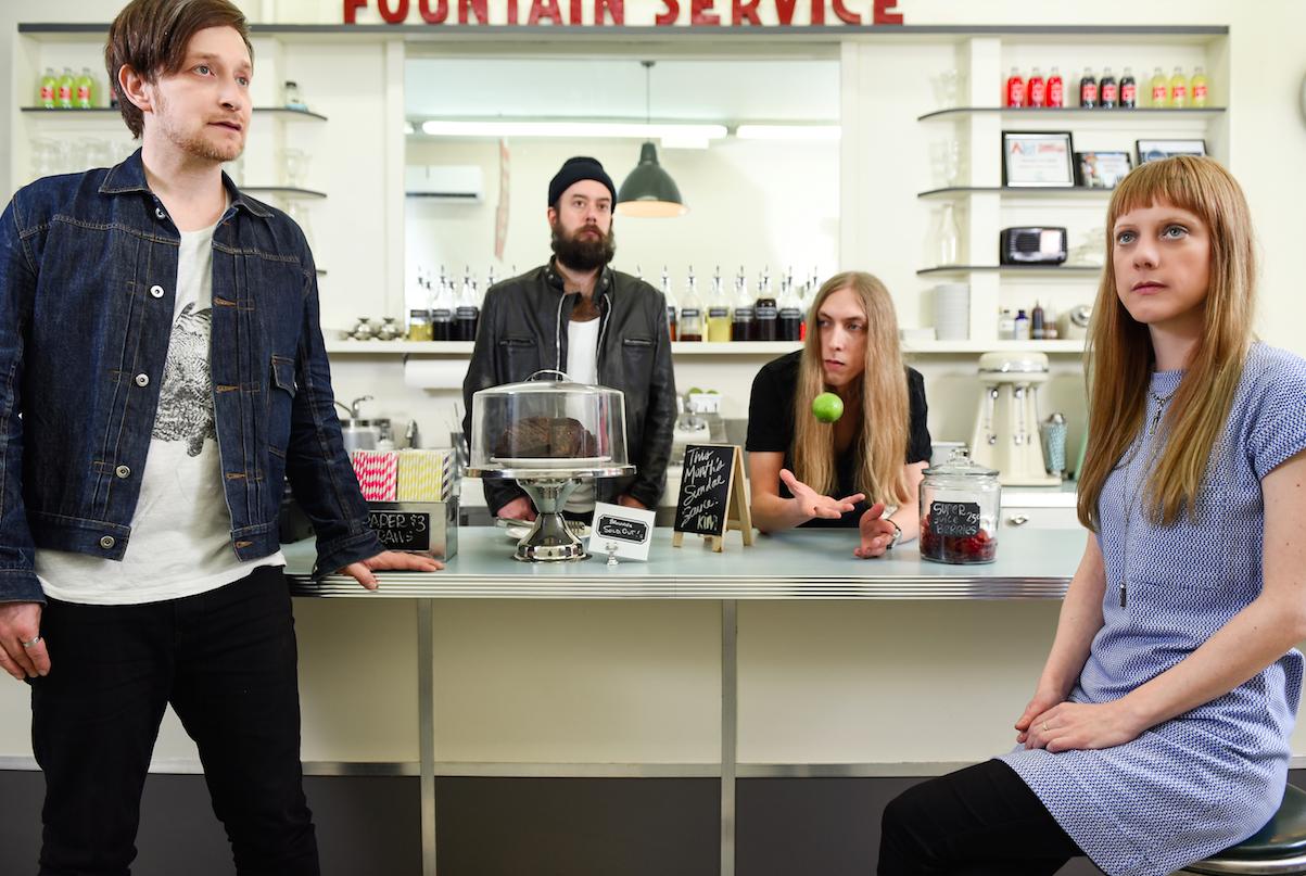 Limblifter (L-R): Ryan Dahle, Gregory Macdonald, Eric Breitenbach, Megan Bradfield