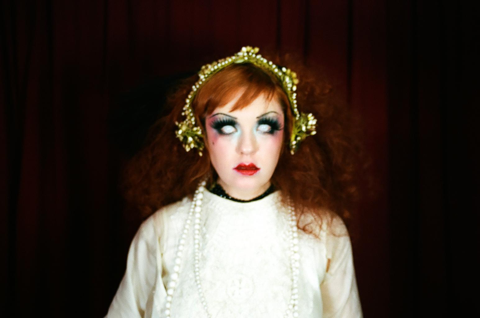 Analog photograph of Lada Redstar, Backstage at Le Pustra's Kabarett der Namenlosen, 2017