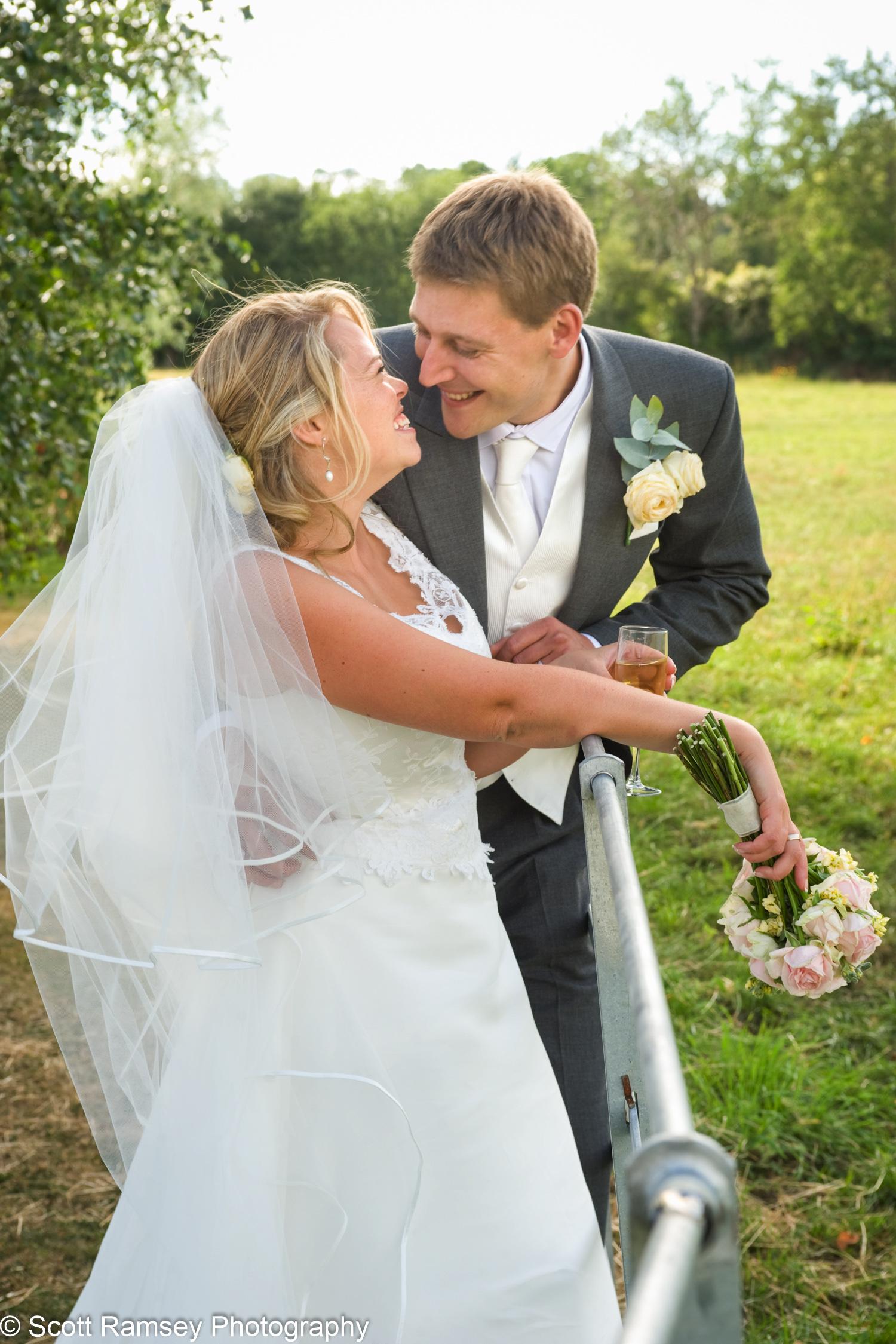 Gate Street Barn Wedding Bride And Groom
