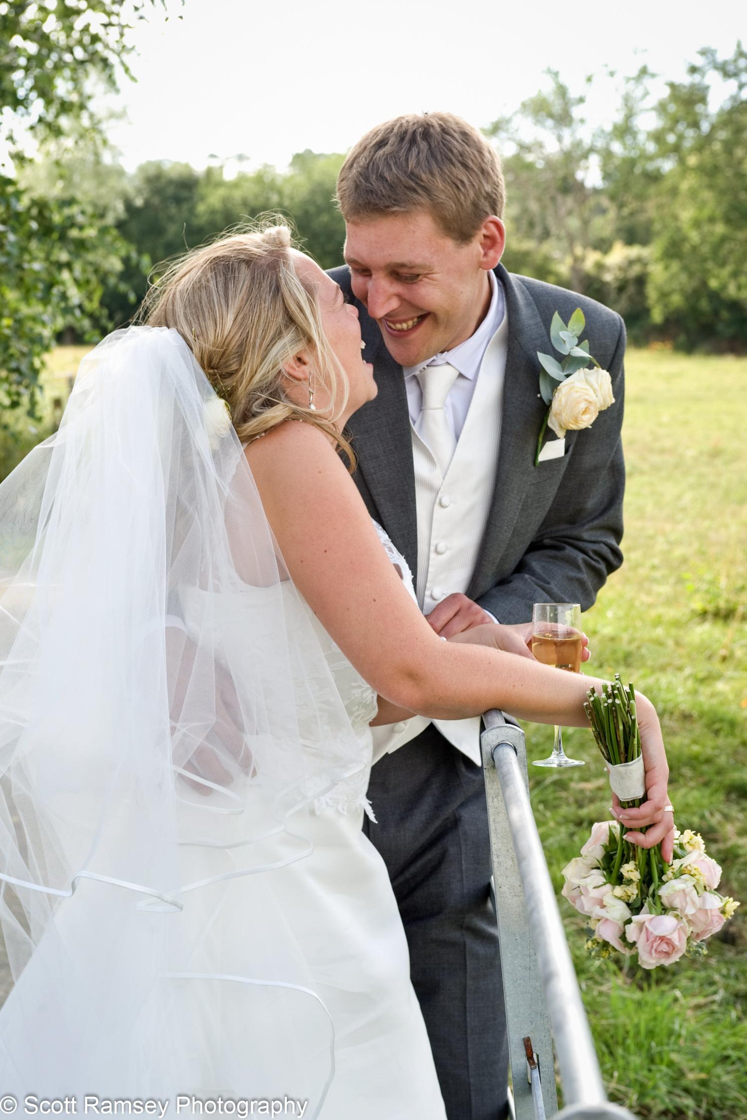 Happy Bride And Groom Gate Street Barn